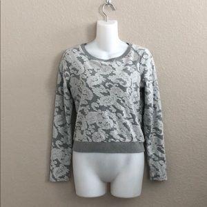 Anthropologie Postmark textured paisley sweatshirt